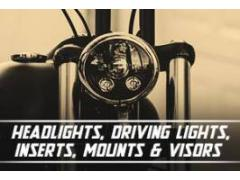 Headlights, Driving Lights, Inserts, Mounts & Visors
