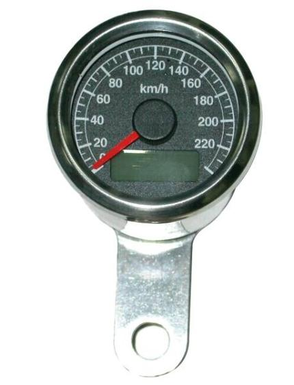 Zodiac Black Face Mini Electronic Speedometer