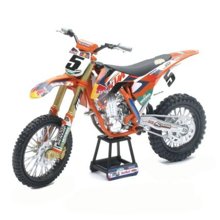 New Ray Model Bike - KTM KTM450SXF REDBULL