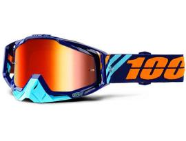 100% 2018 Racecraft Calculus Navy with Red Mirror Goggles