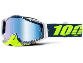 100% 2018 Racecraft Eclipse with Blue Mirror Goggles