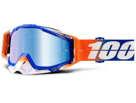 100% 2018 Racecraft Roxburry with Blue Mirror Goggles