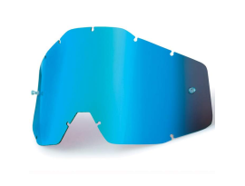 100% Mirror Blue Lens for Racecraft, Accuri and Strata Goggles