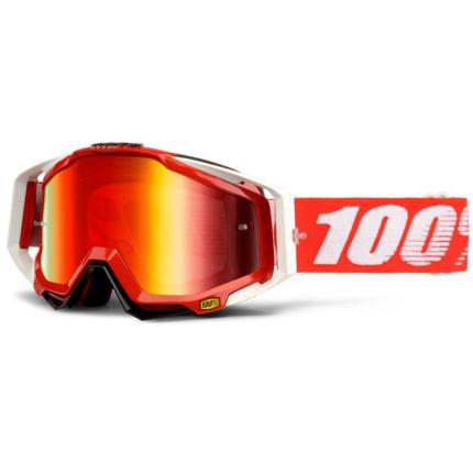 100% Racecraft Goggles - Fire Red