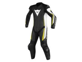 Dainese Assen 1 Piece Perforated Black White Yellow Suit