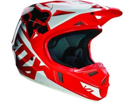 Fox V1 Race Red Helmet 2016