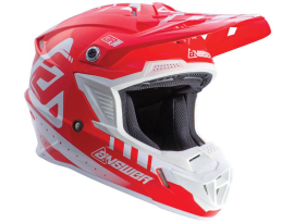 Answer 2018 Youth AR-1 White Red Helmet