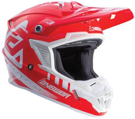 Answer 2018 AR-1 White Red Helmet- Youth