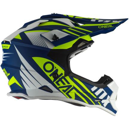 Oneal 2021 2 Series Spyde Blue White and Yellow Helmet