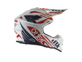 Oneal 2021 2 Series Spyde White Blue and Red Helmet