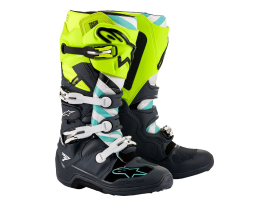 Alpinestars 2020 Tech 7 Limited Edition Anaheim Grey Yellow and Turquoise Boots