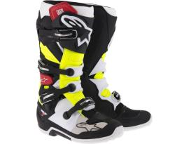 Alpinestars Tech 7 Yellow Red Black Boots 2017