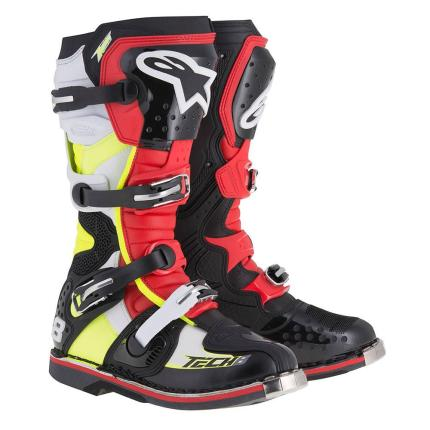 Alpinestars Tech 8 RS Black Red Yellow Boots 2016 - Adult