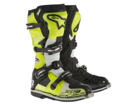 Alpinestars Tech 8 RS Black White Yellow Boots 2016 - Adult