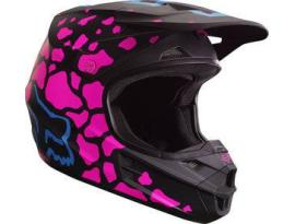 Fox V1 Youth Race ECE Black/Pink Helmet 2017 - Youth