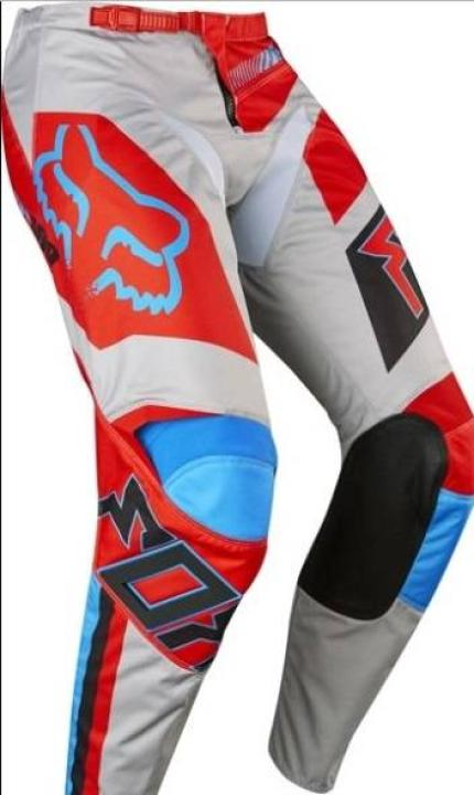 2017 Fox 180 Falcon Gray Red Pants