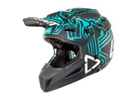 Leatt 2018 GPX 5.5 V11 Grey Teal Helmet