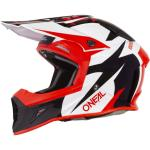 Oneal 2019 10 Series Icon Red, white and Black Helmet Left Side View