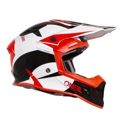 Oneal 2019 10 Series Icon Red, white and Black Helmet Right Side View