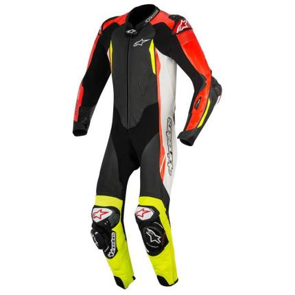 Alpinestars Tech V2 1 Piece Black Fluro Red Suit