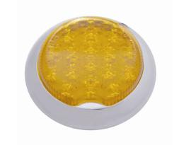 "Pro-One 3"" Flush Mount Round Dual Function LED Tail Light Amber Lens each"