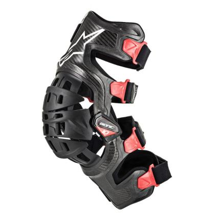 Alpinestars Bionic 10 Carbon Black Red Knee Brace