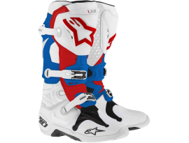 Alpinestars Tech 10 White Red Blue Boots 2016 - Adult