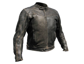 Rjays Mens Aviator Antique Brown Jacket