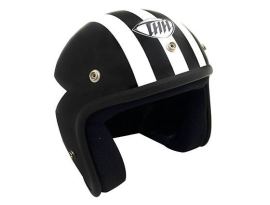 THH T-380 Black White Graphic Helmet