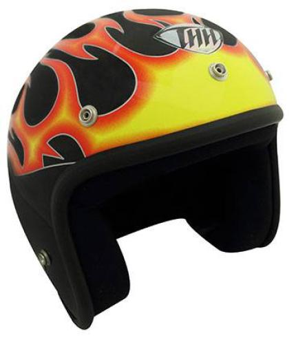 THH T-380 Graphic Flames Helmet