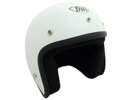 THH T-380 Plain White Helmet with Studs