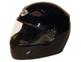THH TS-39 Plain Gloss Black Helmet