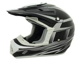 THH TX-12 Grid White/Silver Helmet - Adult
