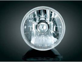 "Kuryakyn Adjure Diamond Cut Headlight 5-3/4"" Ice Smooth - Clear"