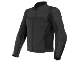 Dainese Agile Perforated Black Leather Jacket