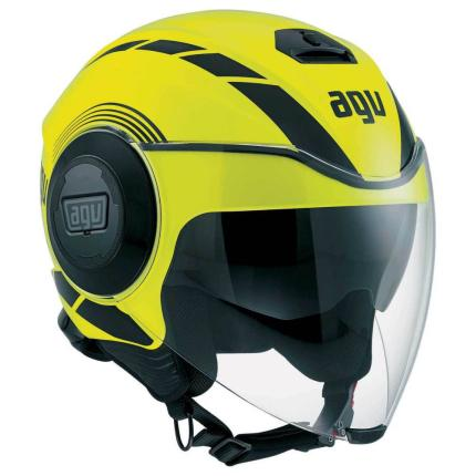AGV Fluid Equilizer Yellow Black Helmet