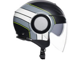 AGV Orbyt Brera Matte Black Grey Yellow Helmet