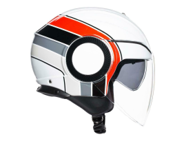 AGV Orbyt Brera White Grey Red Helmet