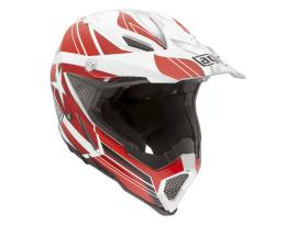 AGV AX-8 Flagsters White Red Helmet