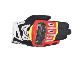 Alpinestars SMX-2 Air Carbon V2 Black/Red/Yellow Leather Glove