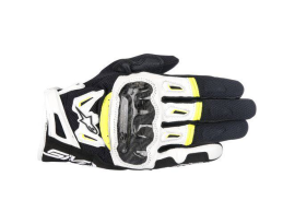 Alpinestars SMX-2 Air Carbon V2 Black/Yellow Leather Glove