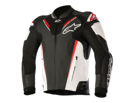Alpinestars Atem V3 Black Red Leather Jacket