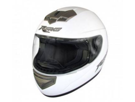 Rjays Apex II Plain White Helmet