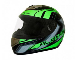 Rjays Apex II Graphic Matte Black Green Helmet