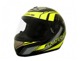 Rjays Apex II Graphic Matte Black Hi Viz Helmet