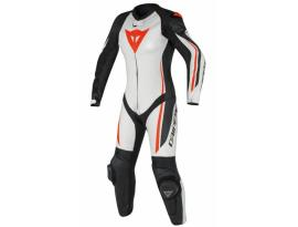 Dainese Assen 1 Piece Lady Perforated White/Black/Red Suit