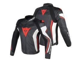 Dainese Assen Leather Black White Red Jacket
