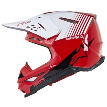 Alpinestars 2020 SM-10 Dyno Red White Helmet
