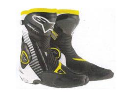 Alpinestars SMX Plus Boots - Black/White/Yellow