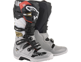Alpinestars Tech 7 Black Silver White and Gold Boots